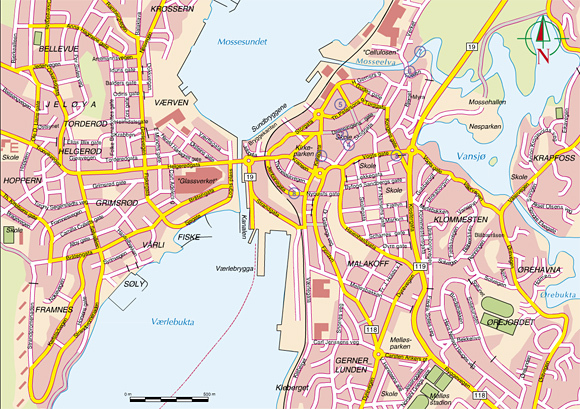 kart over moss Med Moss på kartet! kart over moss
